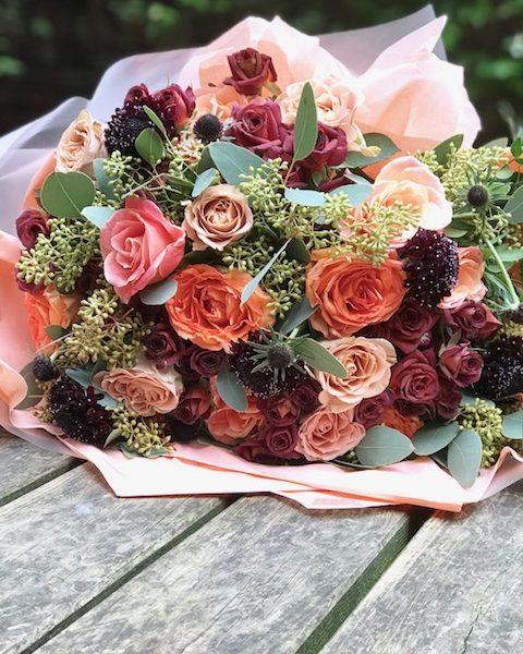 Chocolate and cappucinno roses